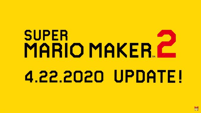 Super Mario Maker 2 Update erscheint am 22. April 2020