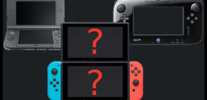 Das Bild zeigt ein mögliches neues Switch-Modell mit zweitem Bildschirm.