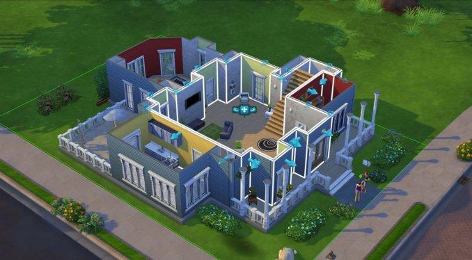 © EA – Das Bild zeigt ein großes Haus aus Die Sims 4