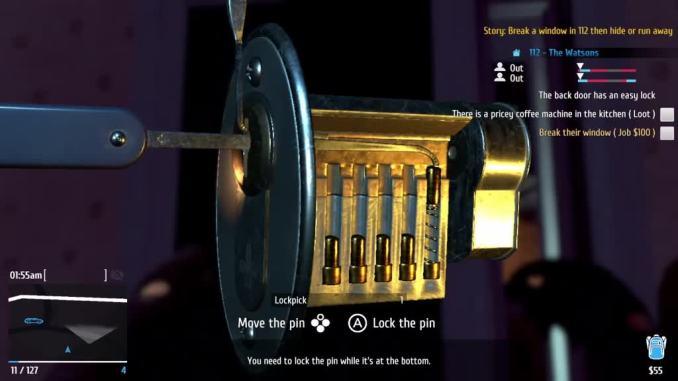 Das Bild zeigt ein Türschloss in Thief Simulator.