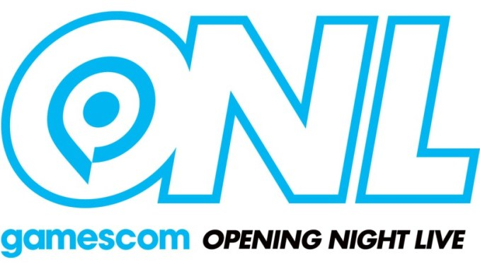 Das Bild zeigt das Logo der gamescom: Opening Night Live.