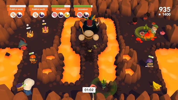 """Das Bild zeigt ein Lava-""""Level"""" in """"Cannibal Cuisine""""."""