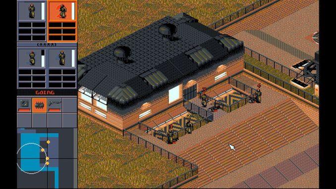 Das Bild zeigt eine Spielszene aus der Spielelegende Syndicate von ehemals Bullfrog