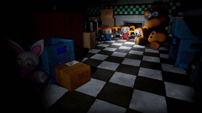 """Das Bild zeigt eine Szene aus """"Five Nights At Freddy's""""."""
