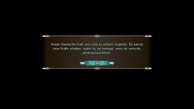 """Das Bild zeigt die Textinfo aus """"Trials of Mana"""", dass man neue Kräfte erhalten kann, wenn man Anises Auferstehung verhindert."""