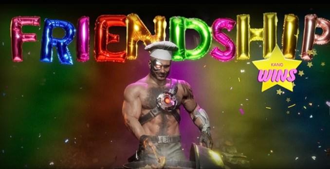 """Das Bild zeigt das Wort Friendship (""""Mortal Kombat 11"""")"""