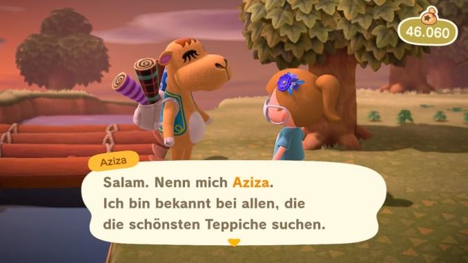 """Das Bild zeigt Aziza aus """"Animal Crossing: New Horizons""""."""