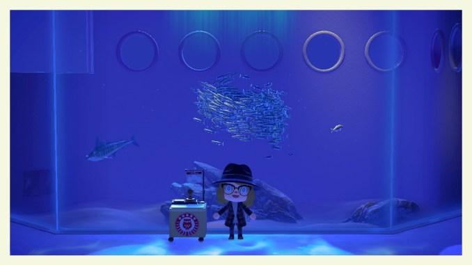 """Das Bild zeigt einen Stempelstand zum Museumstag in """"Animal Crossing: New Horizons""""."""
