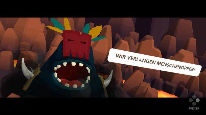 """Das Bild zeigt den bösen Gott Hoochooboo aus dem Spiel """"Cannibal Cuisine"""". Es gelüstet ihm nach Menschenopfern."""