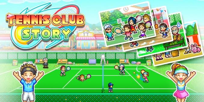 Das Bild zeigt das eShop Cover von Tennis Club Story im Zuge der Veröffentlichungen KW 19/20