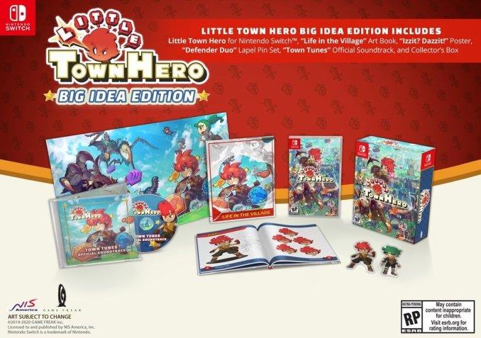 """Das Bild zeigt Game Freaks """"Big Idea Edition"""" zu """"Little Town Hero""""."""