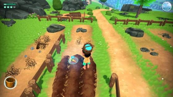 """Das Bild zeigt Koa bei der Landwirtschaft in dem Spiel """"Summer in Mara""""."""