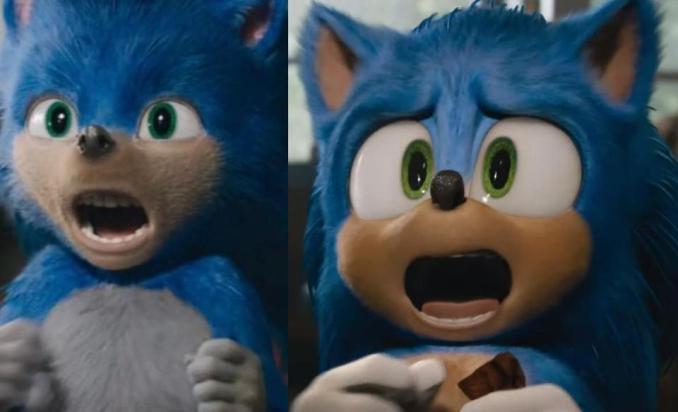 Das Bild stellt das alte und neue Design von Sonic The Hedgehog gegenüber.