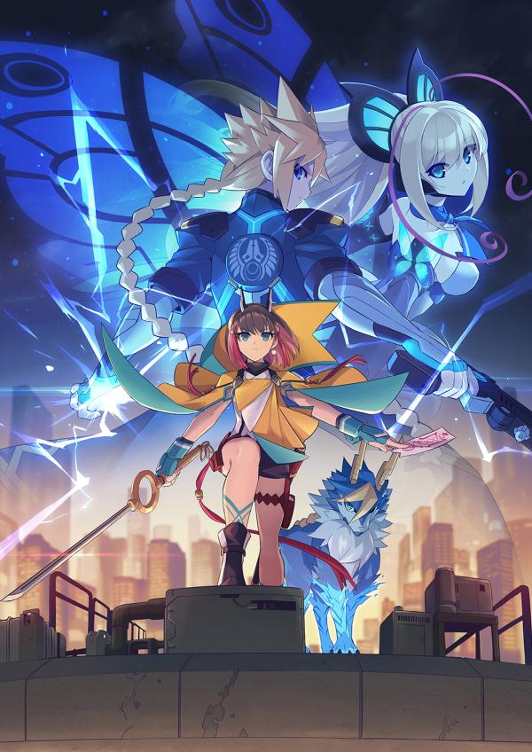 """Das Bild zeigt Kirin, die neue Heldin in """"Azure Striker Gunvolt 3""""."""