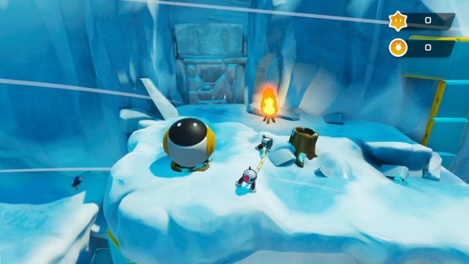 """Das Bild zeigt ein eisiges Level aus dem Spiel """"Biped""""."""
