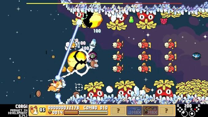 """Das Bild zeigt eine Szene aus dem Spiel """"ProtoCorgi""""."""