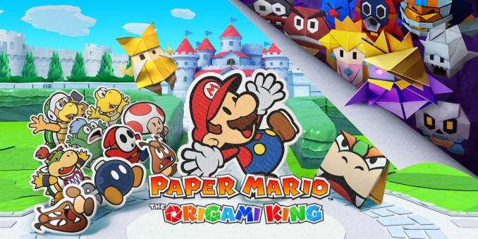 """Das Bild zeigt ein Keyart zu dem Spiel """"Paper Mario: The Origami King""""."""