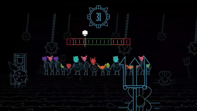 """Das Bild zeigt eine Szene aus de Spiel """"Masky""""."""