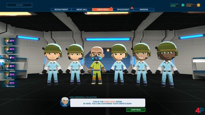 """Das Bild zeigt eine individuell zusammen gestellte Crew. Es handelt sich um eine Szene aus """"Space Crew""""."""