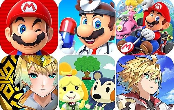 Logos der Mobile Games von Nintendo