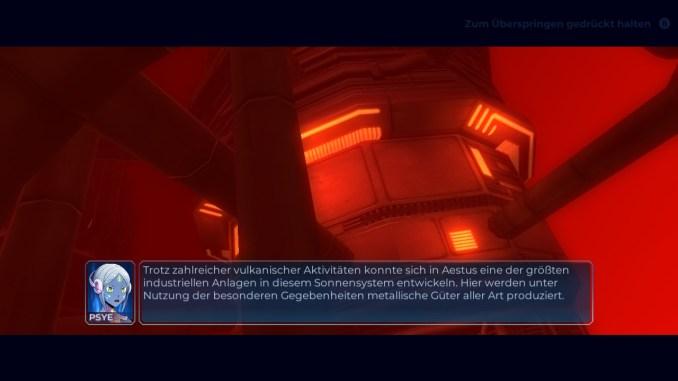 Das Bild zeigt einen Story-Bildschirm in Rigid Force Redux