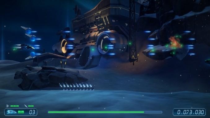 Rigid Force Redux – Das Bild zeigt den Laser-Schuss