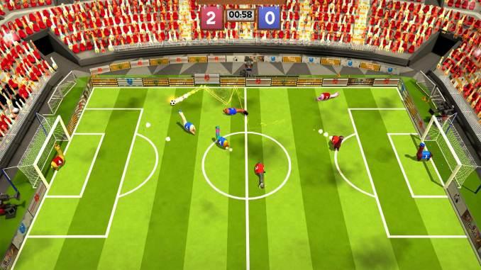 """Das Bild zeigt eine Szene aus dem Spiel """"Alpaca Ball""""."""