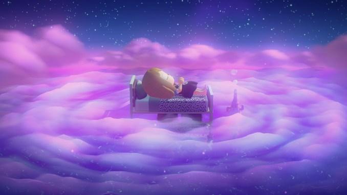 """Das Bild zeigt die Schlummer-Funktion in """"Animal Crossing: New Horizons""""."""