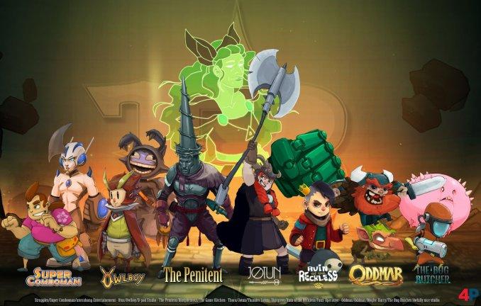 """Das Bild zeigt einige Helden aus dem Spiel """"Bounty Battle""""."""