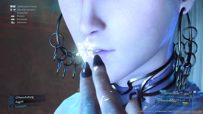 """Das Bild zeigt den Aufruf der Esper Shiva aus """"Final Fantasy VII Remake""""."""