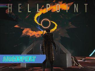 Das Bild zeigt eine Szene aus Hellpoint