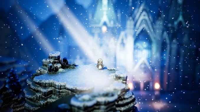 """Das Bild zeigt eine Szene aus dem Spiel """"Octopath Traveler""""."""