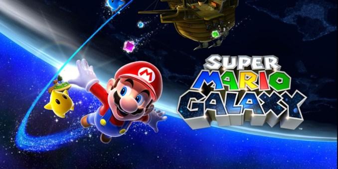 """Das Bild zeigt ein Key-Art zu dem Spiel """"Super Mario Galaxy"""" von Nintendo."""