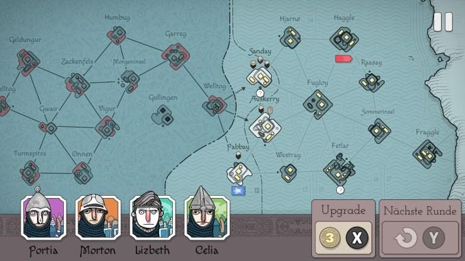 """Das Bild zeigt die strategische Karte von """"Bad North""""."""