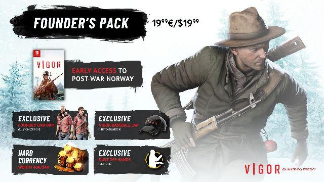 """Das Bild zeigt die Founder's Pack Edition von """"Vigor""""."""