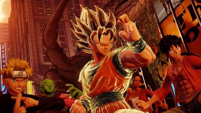 """Das Bild zeigt diverse Charaktere aus dem Spiel """"Jump Force""""."""