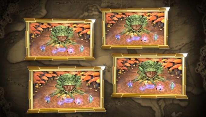 """Das Bild zeigt den plattformübergreifenden Online-Multiplayer von """"Final Fantasy Crystal Chronicles""""."""