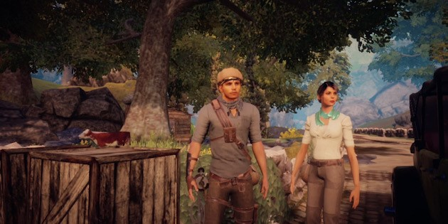 Das Bild zeigt die Protagonisten von Adam's venture – Origins