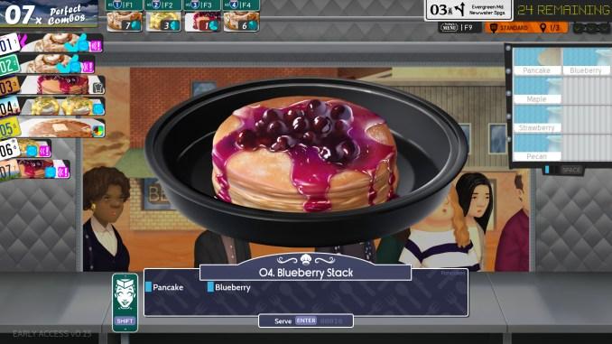 """Das Bild zeigt einen leckeren Blaubeeremuffin aus dem Spiel """"Cook, Serve, Delicious! 3?!""""."""
