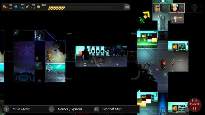 """Das Bild zeigt eine Szene aus dem Spiel """"Dungeon of the Endless""""."""