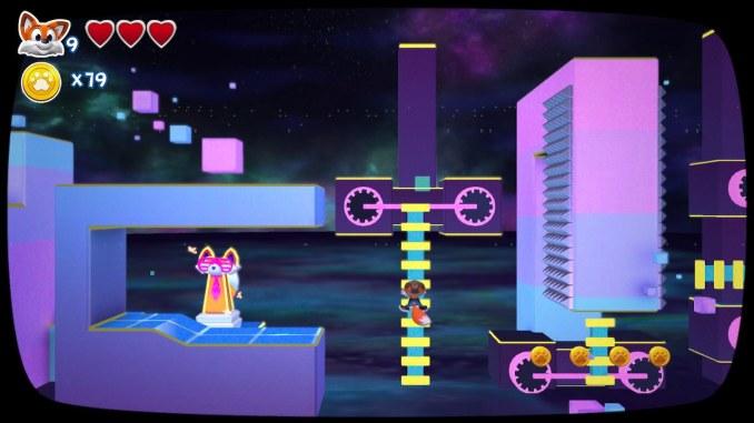 """Das Bild zeigt einen Ausschnitt aus einem Retro-Level von """"New Super Lucky's Tale""""."""