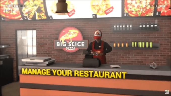 """Das Bild zeigt eine Szene aus dem Spiel """"Pizza Simulator""""."""
