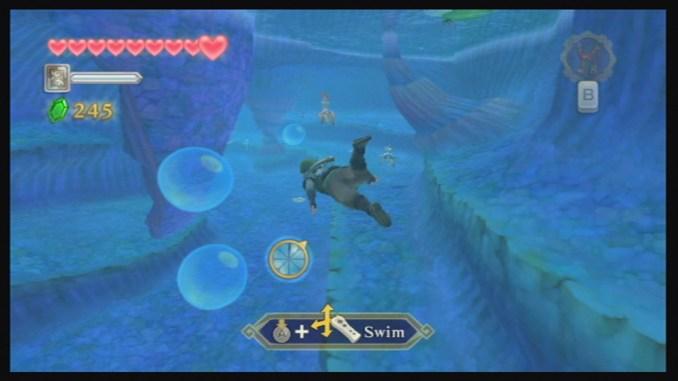 """Das Bild zeigt eine Szene aus dem Spiel """"The Legend of Zelda: Skyward Sword"""" für die Wii."""
