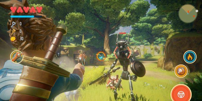 """Das Bild zeigt einen Kampf in """"Oceanhorn 2""""."""