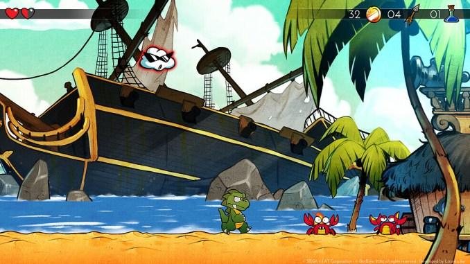 """Das Bild zeigt einen Ausschnitt aus The Dragon's Trap, einem Vorgänger von """"Wonder Boy – Asha in Monster World""""."""