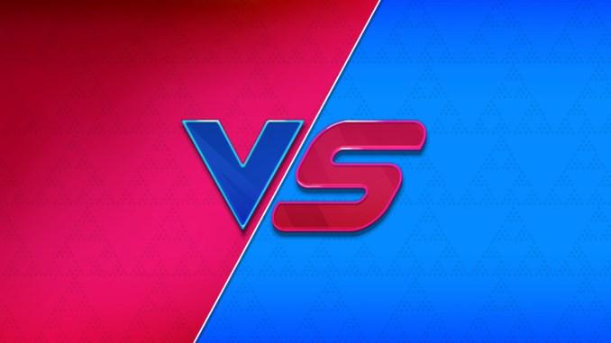 """Das Bild zeigt ein VS-Logo aus dem Spiel """"Nexomon: Extinction""""."""