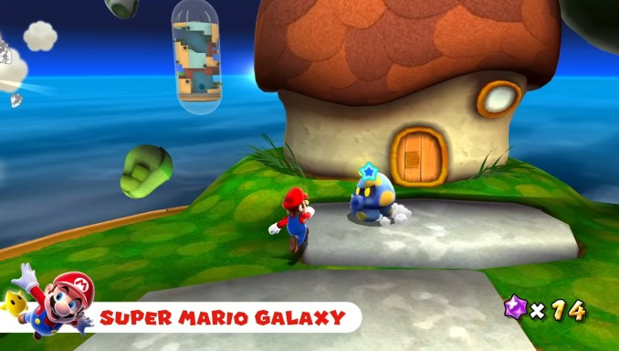"Das Bild zeigt den Pointer in ""Super Mario Galaxy""."