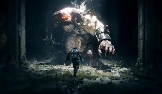 """Das Bild zeigt einen gewaltigen Boss in """"Demon's Souls""""."""