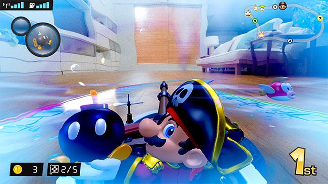 """Das Bild zeigt Ingame-Footage von """"Mario Kart Live: Home Circuit""""."""