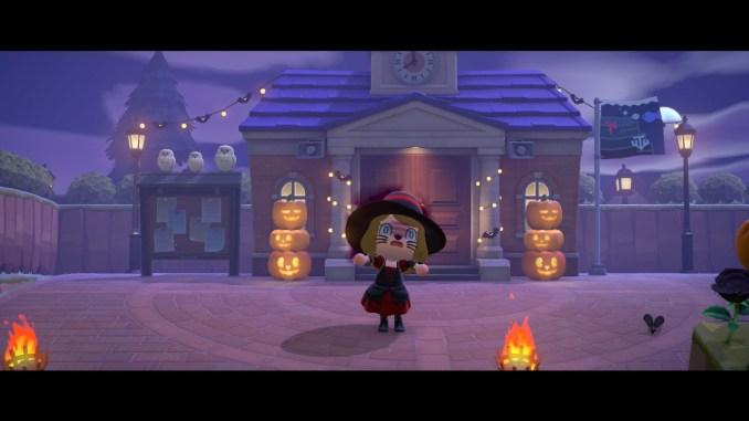 "Das Bild zeigt das Halloween-Event im Herbst in ""Animal Crossing: New Horizons""."